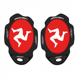 RST Isle of Man Manx legs Knee Sliders - Red